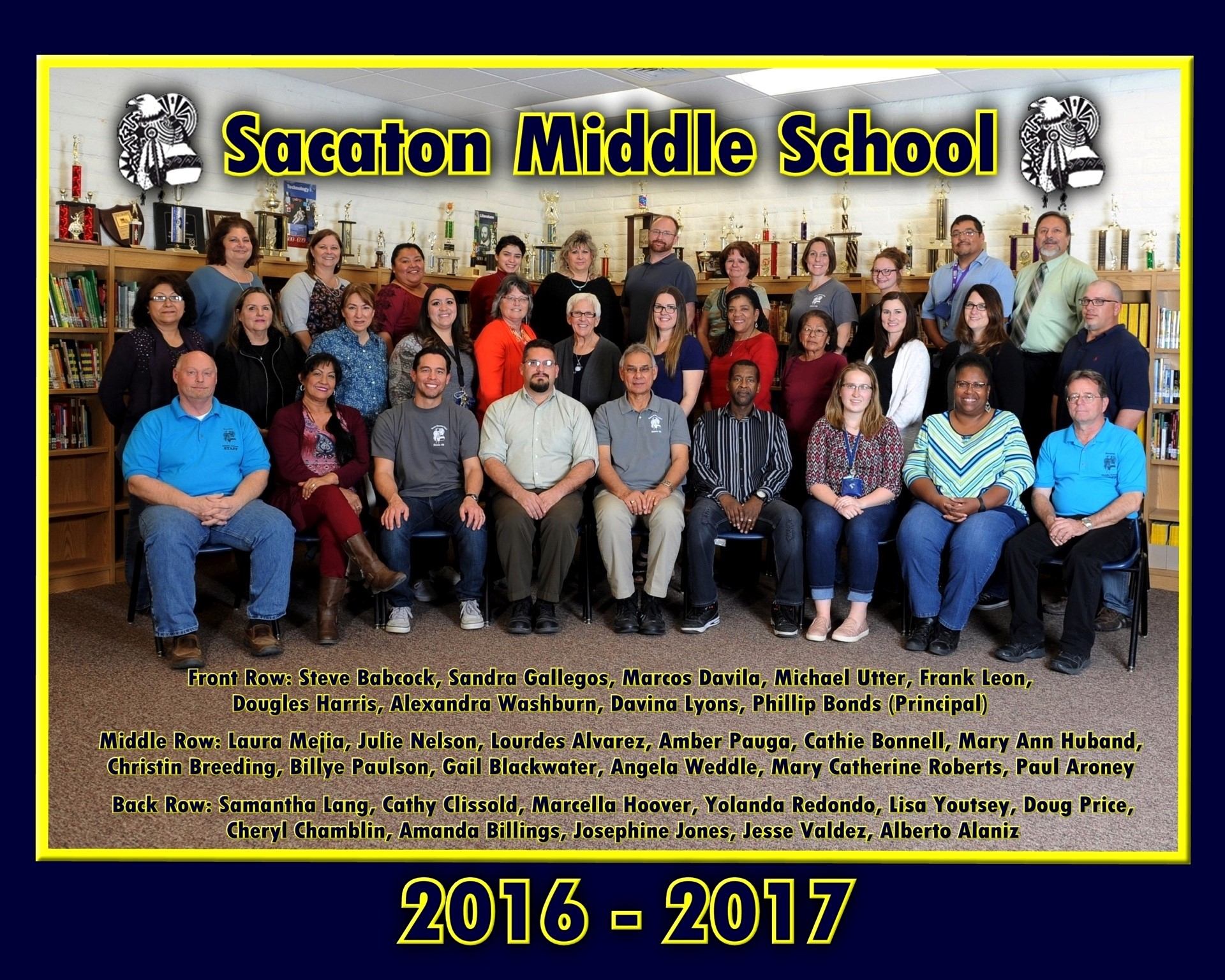 Sacaton Middle School Staff 2016-2017